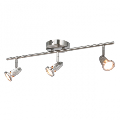 XiNBEi Lighting Track Lighting, 3 Light Track Light, Modern Straight Kitchen Light Fixtures Brushed Nickel Finish XB-TR1224-3-BN